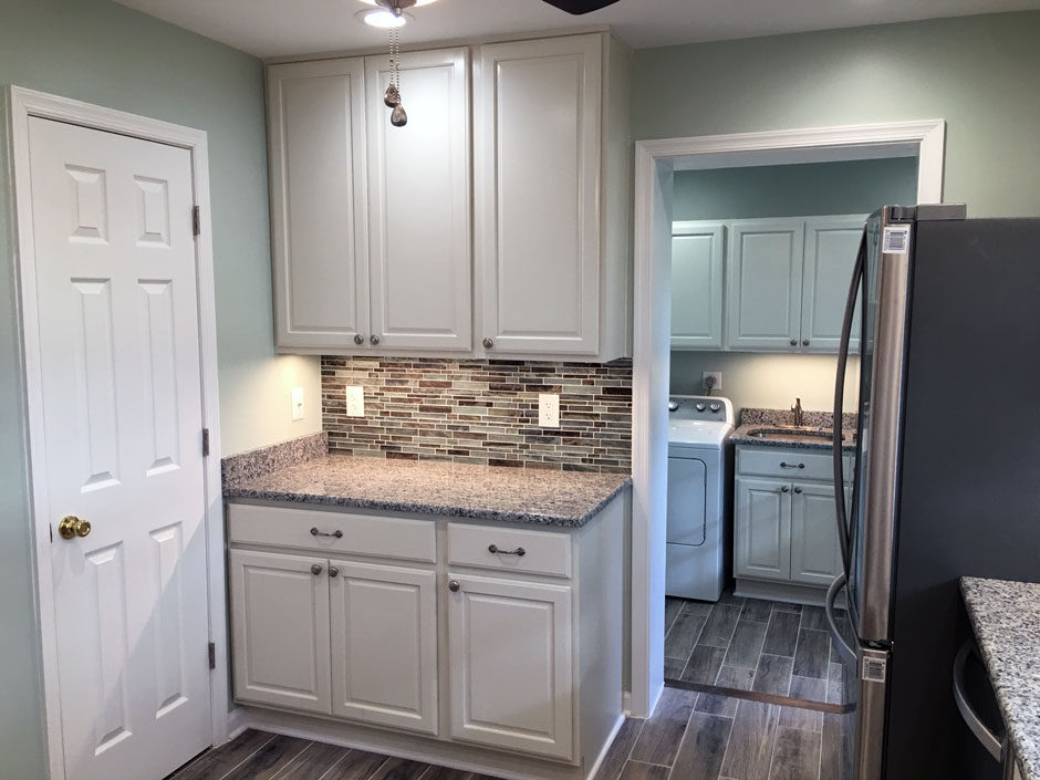 laundry room remodel narrow kitchen after laundry room remodel pro star builders lllp